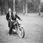 На мотоцикле